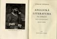 ANGLICKÁ LITERATURA XX. STOLETÍ (1901 - 1931)