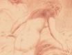 ŠVABINSKÝ, MAX. BOHYNĚ DÍVAJÍCÍ SE S OBLAKU NA ŽENCE. 1932. Suchá jehla, sign. 185x118 (otisk desky). /q/
