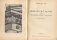 HISTORICKÉ SLOHY - ARCHITEKTONICKÉ TVAROSLOVÍ. 1933. /architektura/