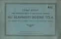 České zpěvy ku slavnosti Božího těla - alt