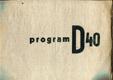 Program D 40, zahajovací číslo (Časopis pro umění - sezona 1939-1940)