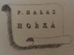 František Halas, František Tichý: Hořká (tři originální suché jehly)