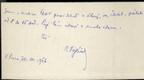 Rukopis, podpis, kartička V. Vojtíšek, spisovatel