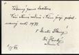 František Horký, rukopis, podpis - Maltézský kněz