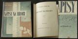 NÁPISY NA HROBY. 1926. First edition. Original halfcloth. Desing by OT. MRKVICKA.