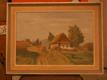 Vesnická krajina s domky