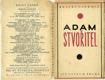 Adam Stvořitel - pouze obálka