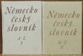 Německo-český slovník I. a II. díl