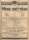 MĚSÍC NAD ŘEKOU. 1922. Divadelní leták. /divadlo/