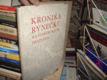 Kronika rynečku na Starém městě pražském