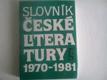 Slovník české literatury 1970 - 1981