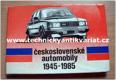 českoslovesnké automobily 1945 - 1985