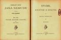 Sebrané spisy J.Nerudy VIII. Studie krátké a kratší II.