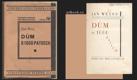 DŮM O 1000 PATRECH. (1929). 1. vyd. Úroda sbírka krásné prózy. Obálka a typografická úprava VÁCLAV MAŠEK.