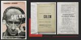 GOLEM. (1931). Anonymní obálka. Nedatováno, premiera 1931. Original wrappers. /w/