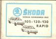 Škoda 105 , 120, 125, 130, 135, 136 Garde Rapid - seznam náhradních dílů