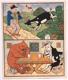 Koza a medvěd - litografie
