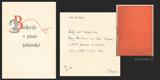 BESKYDY V PÍSNI JEŠTĚRSKÉ. 1938.  Ručně psané čtyřverší  s podpisem autora.