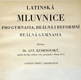 Latinská mluvnice pro gymnasia, reálná i reformní reálná gymnasia