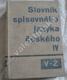 Slovník spisovného jazyka českého, IV.díl (apart)
