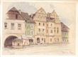 ARCHITEKT NA CESTÁCH.  1941. Sedmdesát kreseb a akvarelů. Dedikace s podpisem B. Kozáka, dat. 14.8. 1941.