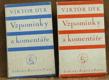 Vzpomínky a komentáře 1893 - 1918, kniha I. a II.