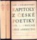 Kapitoly z české poetiky I., II., III.