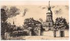Roudnice zámek - litografie