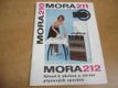 MORA 210, 211, 212. Návod k obsluze a údržbě plynových sporáků (