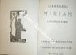 Miriam kniha lyriky