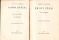 Alois Jirásek Sebrané spisy I. Proti všem. Vydáno 1937.