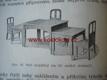 NÁBYTEK a jiné předměty 1929 křeslo židle stůl