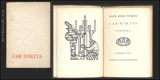 CAR NIKITA. 1928. Obrázky  R. SIROTSKÝ, typo RUDOLF HÁLA. Edice Knihy pro bibliofily.