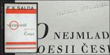 O NEJMLADŠÍ POESII ČESKÉ. 1928. Obálka a úprava VÍT OBRTEL. Z knihovny Vratislava Effenbergra.