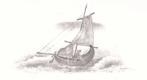 Loďka v bouři