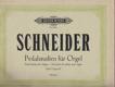 Schneider - Pedalstudien für Orgel