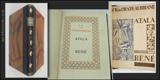 ATALA. RENÉ. 1926. Bibliofilská ed. Odeon sv. 1., polokožená vazba. Vytiskli Kryl a Scotti v Novém Jičíně.