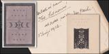 MODRÉ OKNO. 1925. Judaika, podpis a dedikace autora překladu