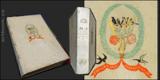 PROSTONÁRODNÍ ČESKÉ PÍSNĚ A ŘÍKADLA.  (1886). Kožená vazba s ruční kresbou na přední desce.