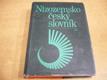 Nizozemsko-český slovník. Nederlands-Tsjechis