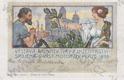 Praha 7, Výstaviště, výstava architektury a inženýrství 1898, kolorovaná, DA