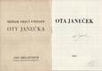 Ota Janeček (podpis) + Seznam prací výstavy Oty Janečka, ARS - Melantrich