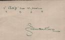 podpis na lístku papíru