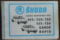 Seznam náhradních dílů Škoda 105, 120, 130, 135, 136, Garde, Rapid