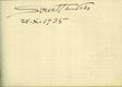 [Album s podpisy ze sbírky dr. Eduarda Skarnitzla.]