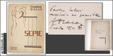 HALAS; FRANTIŠEK: SEPIE. - 1927. 1. vyd. Obálka VÍT OBRTEL; typo KAREL TEIGE. Odeon. Dedikace a podpis autora. - 8406310985