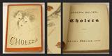 Šíma - DELTEIL; JOSEF: CHOLERA. - 1926. Obálka JOSEF ŠÍMA; titulní list KAREL TEIGE. - 8405862217