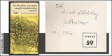 CHVATÍK; KVĚTOSLAV: SMYSL MODERNÍHO UMĚNÍ. - 1965. Otázky a názory. Podpis autora. - 8406335689