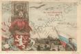 Praha- Sokol- IV. slet všesokolský v Praze 1901, DA, kolorovaná