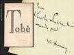 HOLAN; VLADIMÍR: TOBĚ. - 1947. Podpis autora. - 10370164617